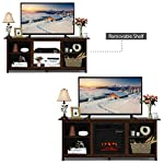 """TV Stand Entertainment Media Console Center with 1400W 18"""" Electric Fireplace Mantel Insert Realistic Flame Effect 3 Levels Flame Brightness Operates with Or Without Heat Holds TVs Up to 65"""""""
