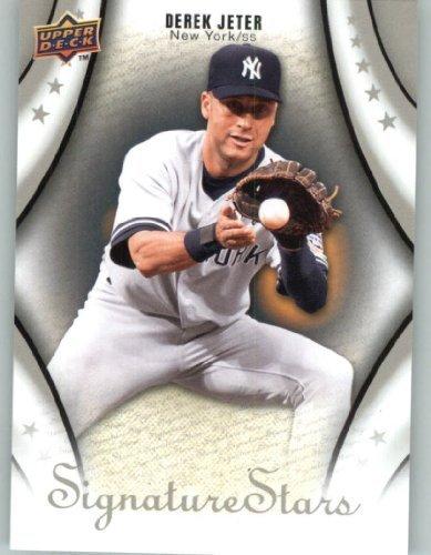 2009 Upper Deck - UD Signature Stars Baseball Card # 37 Derek Jeter - Yankees - MLB Trading Card