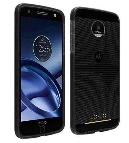 Verizon  Motorola Moto Z Droid  OEM Two-Tone Case - Black / Gray