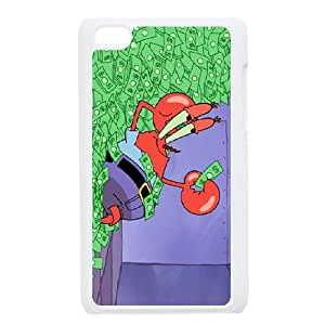 Mr. Krabs iPod Touch 4 Case White Cell Phone Case Cover EEECBCAAK03724