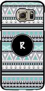 Case for Samsung Galaxy S6 (SM-G920) - Monogram - tribal pattern *R* by ruishername