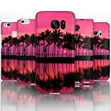 Hairyworm - (BG0058) Pink Palm Tree Silhouette Sony Xperia Z2 semi flex plastic cell phone case, cover, hard plastic cell phone case, cell phone cover, cell phone back cover, cell phone protector