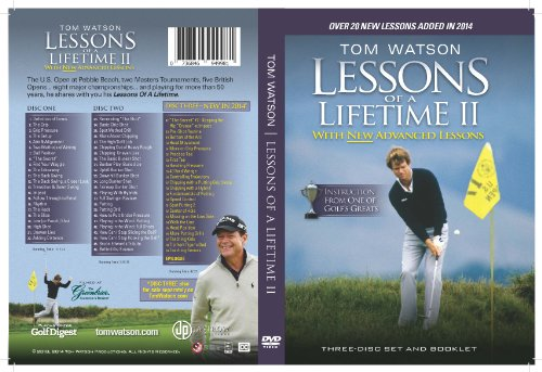 Tom Watson Lessons of a Lifetime II - Three Discs and Booklet - Dvd Booklet