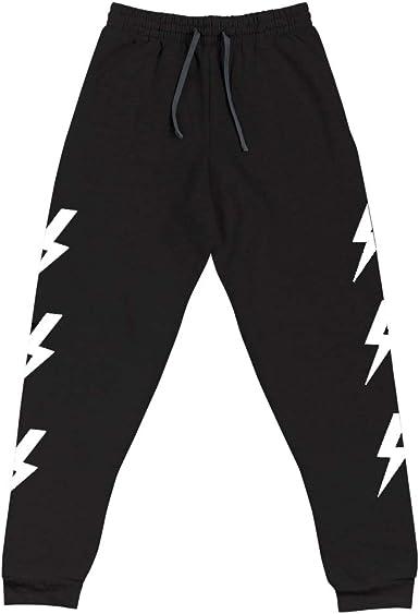 Womens Lightning Bolt Sweat Pants Sweatpants Joggers