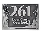 Prairie Grass Address Plaque 15x10 - Raised Pewter Coated