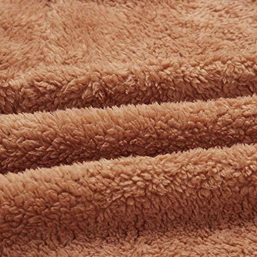 La Taille Revers Hiver Uni Veste Épaissir Chandail Plus Femmes Casual Manteau Fluffy Jaune Vent Baggy tSHw80