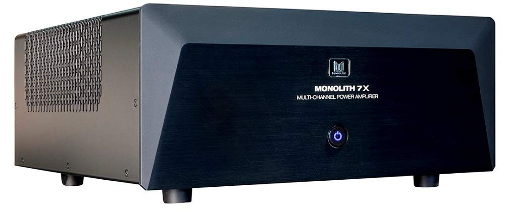 Monolith Multi-Channel Power Amplifier - Black With 7x200 Watt Per Channel, XLR Inputs For Home Theater & Studio