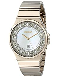 Seiko SXDG14 36mm Gold Steel Bracelet & Case Hardlex (used for Seiko only) Women's Watch