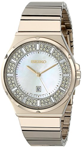 Seiko Womens SXDG14 Matrix Analog Display Japanese Quartz Gold Watch