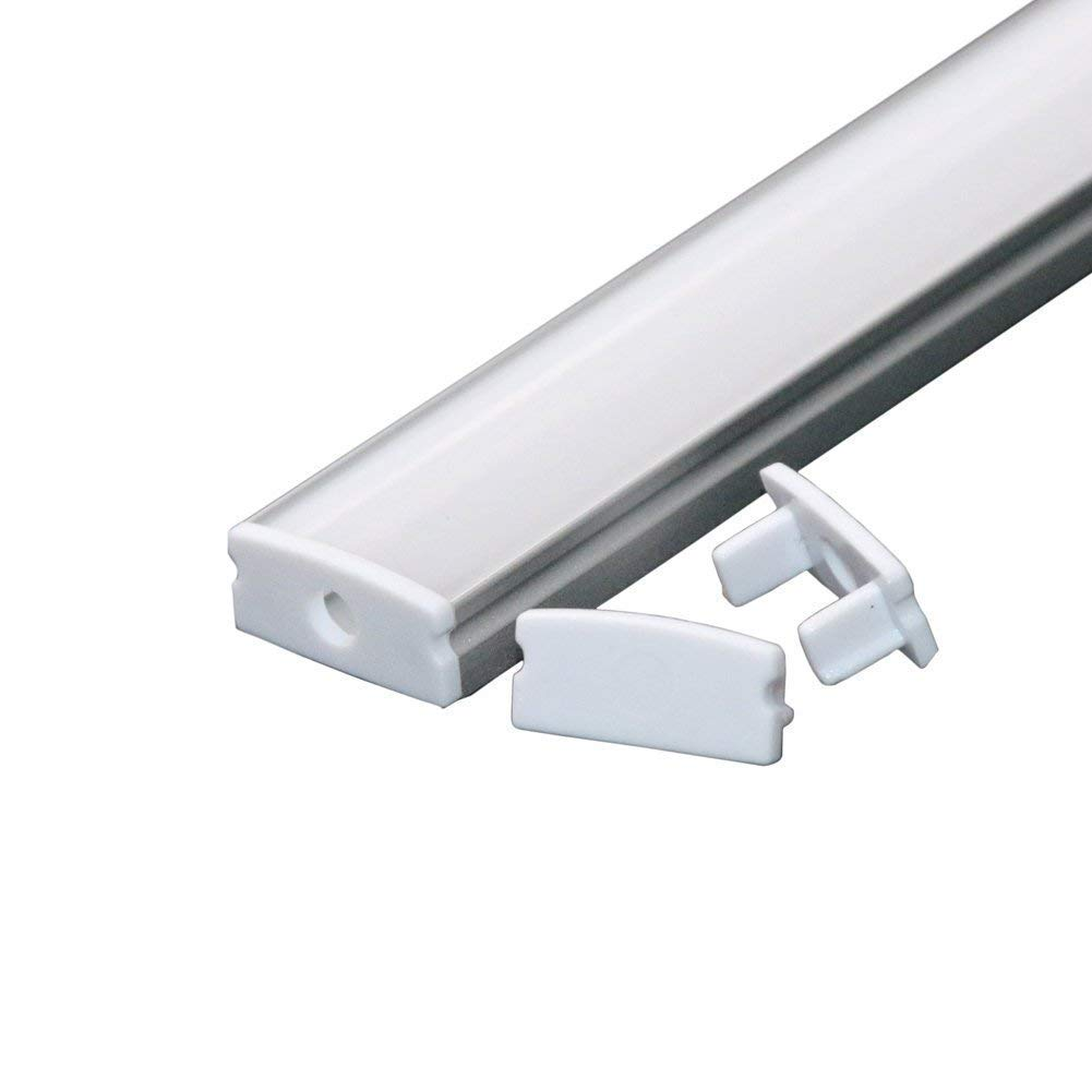 LED Aluminum Channel 40x3.3ft,LED Profile with Cover and Complete Mounting Accessories for Led Strip Light Installation by StarlandLed (Image #5)