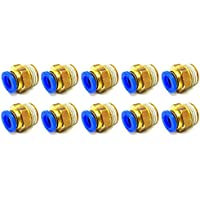3//8 Size NP Brass Pack of 10 Parker 6-1//4PLPHBF4-B-pk10 Male Connector