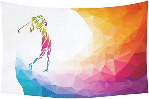 LIANGWE Tapiz Silueta Mujer Golfista Eps 10 tapices Flor Colgante ...