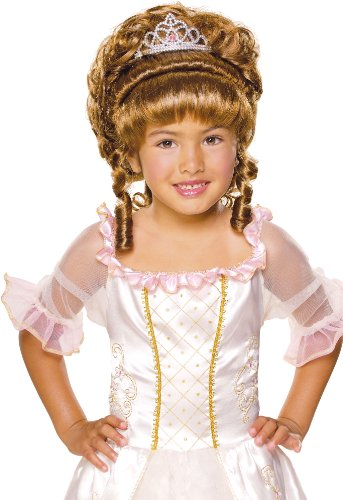 Rubies Child's Charming Princess Brunette Costume Wig (Marie Antoinette Halloween Costume)