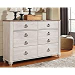Ashley Furniture Signature Design - Willowton Chest of Drawers - Contemporary Driftwood Inspired Dresser - Two-tone…
