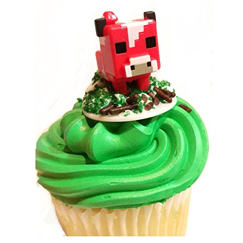 36 Minecraft Figure Cupcake Toppers And Temporary Tattoos by Pixel Toys (Image #3)