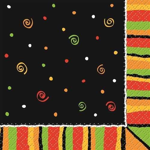 Fiesta Stripes Printed Beverage Napkins 16ct, Cinco de Mayo Party Supplies/Ideas]()