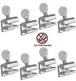 Home Essentials 8 Pcs Home Security Sliding Window Lock - Tamper Resistant Extruded Aluminum - No Tool Needed