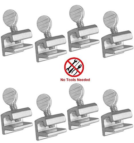 Tamper Resistant Window - Home Essentials 8 Pcs Home Security Sliding Window Lock - Tamper Resistant Extruded Aluminum - No Tool Needed