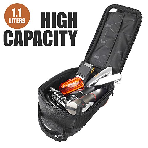 "Ibera Bicycle Top Tube Phone Bag for 5"" 6"" Screen Size, Bike Frame Strap Attachment Mount"