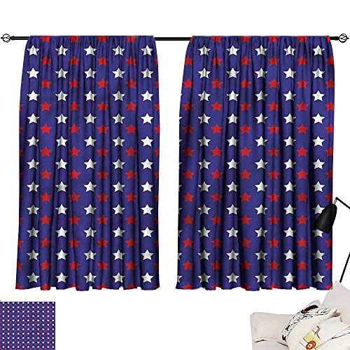 Jinguizi Room/Bedroom, Darkening Curtains USA,Federal Holiday Design,Indoor Curtain Decoration W63 x -