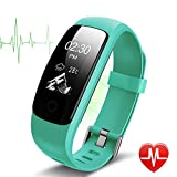 Heart Rate Fitness Tracker Watch - Lintelek Updated Activity Tracker with Multiple Sports Modes - IP67 Waterproof Touch Screen Smart Pedometer for Android and IOS Smart Phones