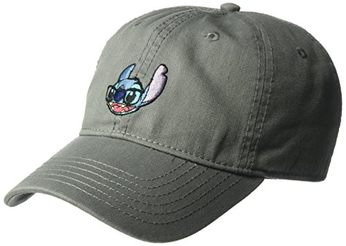 ered Stitch Glasses Baseball Cap, Adjustable, Gray, One Size ()