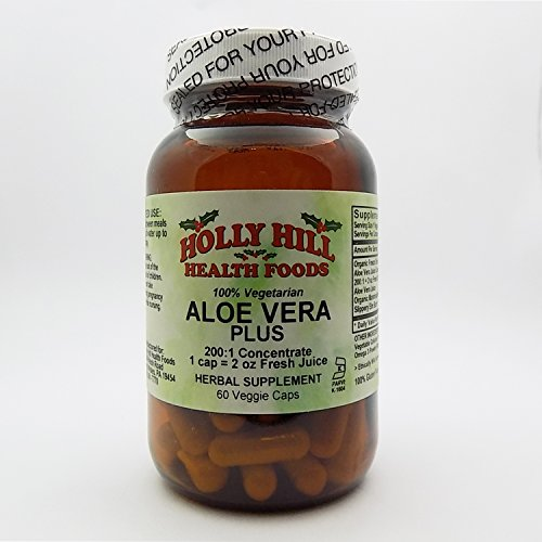 Holly Hill Health Foods, 100% Vegetarian Aloe Vera (200:1), 60 Vegetarian Capsules