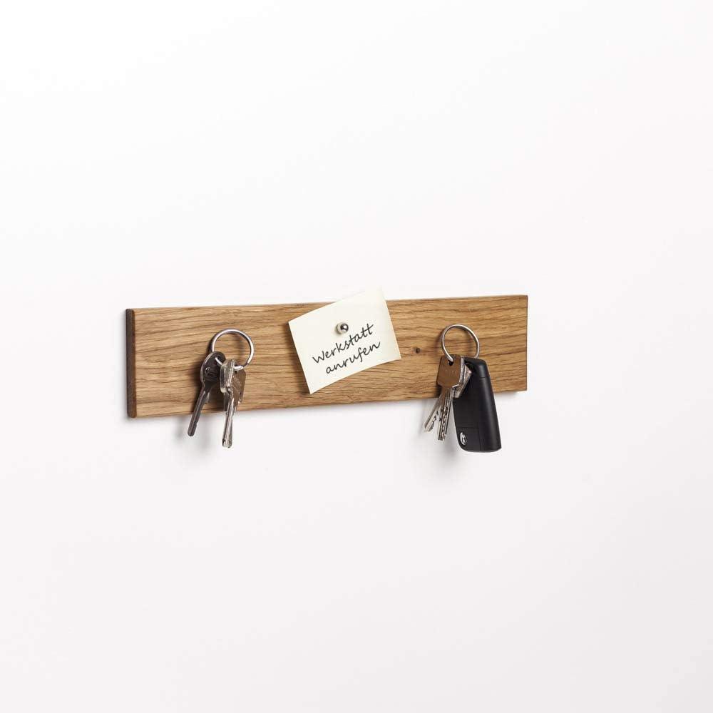 Eiche, 30 cm WOODS Schl/üsselbrett Holz magnetisch I Schl/üsselablage I magnetische Messerleiste I Wanddekoration aus Holz handgefertigt in Bayern I Schl/üssel Aufh/änger Home I Schl/üsselhalter