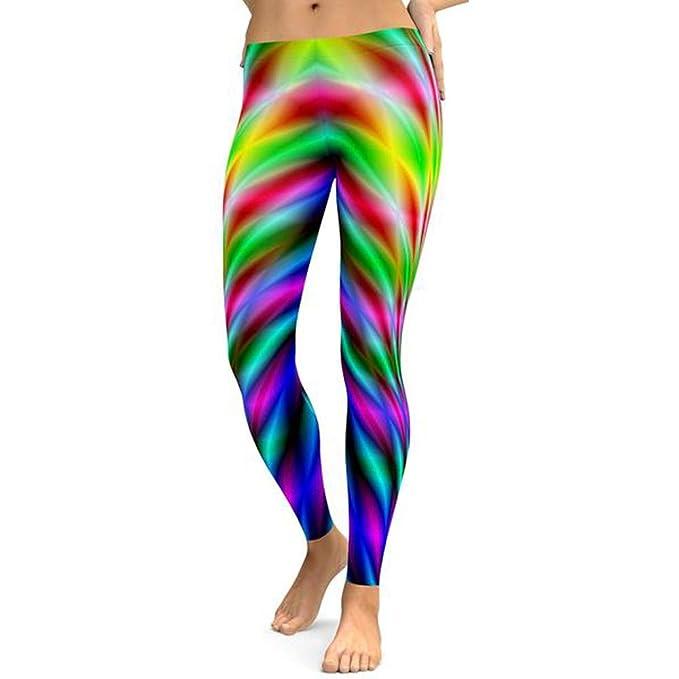 Amazon.com: 4Clovers Womens Colorful Print Yoga Workout ...