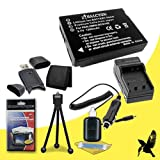 Halcyon 1200 mAH Lithium Ion Replacement DMW-BCG10 Battery and Charger Kit + Memory Card Wallet + SDHC Card USB Reader + Deluxe Starter Kit for Panasonic Lumix DMC-ZS20 14.1 MP High Sensitivity MOS Digital Camera and Panasonic DMW-BCG10
