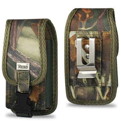 Rugged Heavy Duty Nylon Canvas Protective Cell Phone Case Pouch (with Metal  Belt Clip Belt