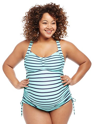 Motherhood Plus Size Cross Back Maternity Tankini - Motherhood Swimsuit Tankini Maternity