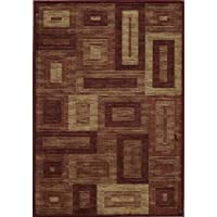 Momeni Rugs DREAMDR-02RED2030 Dream Collection, Contemporary Area Rug, 2 x 3, Red