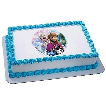 Amazoncom Whimsical Practicality Frozen Sisters Edible Icing Image