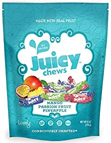Lovely Candy Company Fruit Chews Tropical, 6 Ounce