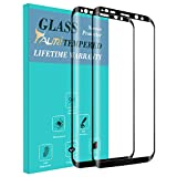 Tauri [2-PACK] For Samsung Galaxy S8 [Full Cover] [Tempered Glass] Screen Protector with Lifetime Replacement Warranty