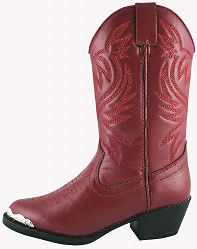 Smoky Children's Kid's Red Western Cowboy Boot ()