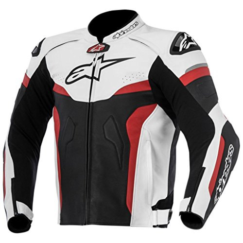 Alpinestars Celer Leather Men's Riding Jacket (Black/White/Red, Size 48)