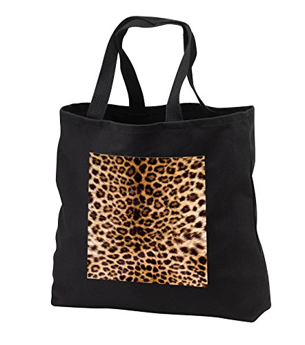 (TDSwhite – Patterns Designs - Leopard Print Photo - Tote Bags - Black Tote Bag JUMBO 20w x 15h x 5d (tb_285216_3))
