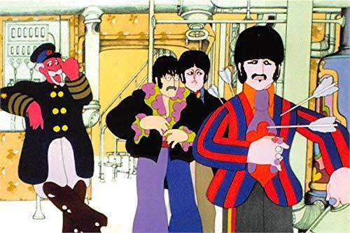 - Ringo Starr John Lennon Paul McCartney trading card Beatles Yellow Submarine 1999 Duo #39 postcard size 4x6