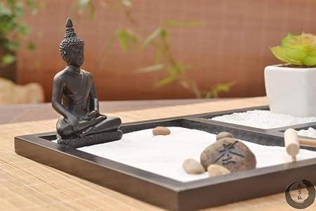Laogg Jardin Zen Figura Adorno De Mesa De Arena De MontañA Seca De Micro-Paisaje Zen De Estilo JaponéS Autocultivo, Cultura Zen, Incensario.: Amazon.es: Hogar