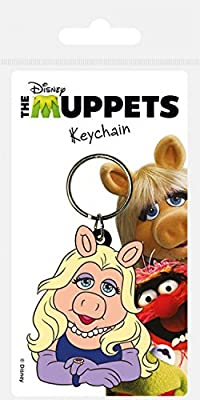 Muppets Keychain Keyring For Fans - Miss Piggy (2 x 2 inches)
