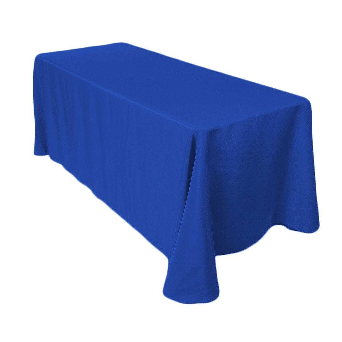Craft and Party 90'' X 132'' Rectangular Polyester Table Cloth (Royal Blue)