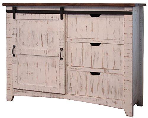 Fantastic Amazon Com Anton Distressed White Sliding Barn Door Interior Design Ideas Clesiryabchikinfo