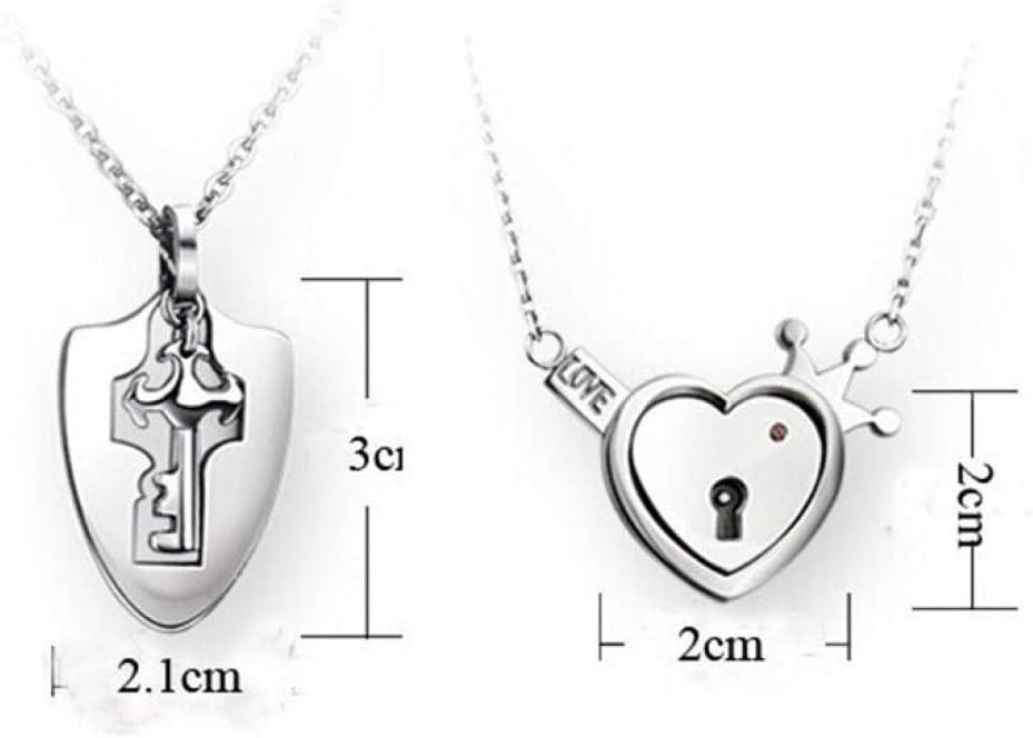 GHYS Bracelet/Fashion/Love/Love/Collier/avec/Serrure//à/cl/é/Ensemble/Couple/cr/éatif/Accessoires/de/Bijoux/Tendance,Image,Taille Unique