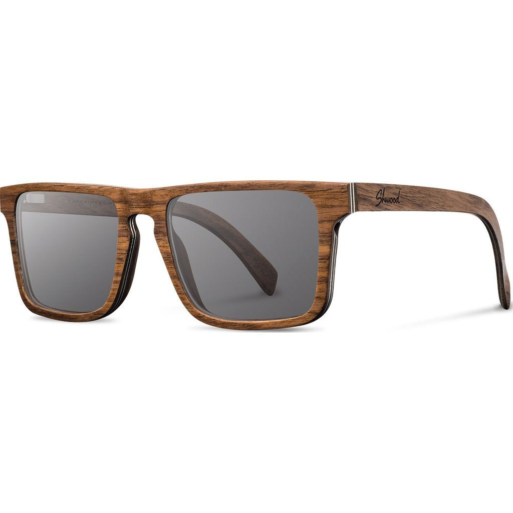 Shwood- Govy 2 Wood, Sustainability Meets Style, Walnut, Grey Lenses by Shwood