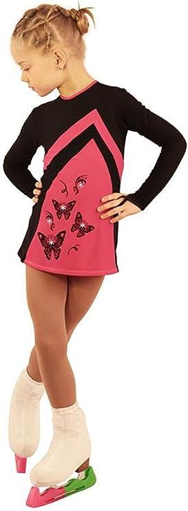 Amazon.com: IceDress Figure Skating Dress - Thermal - Velvet (Black with Raspberry) (AL): Clothing