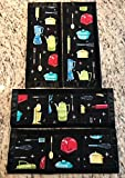 Refrigerator Door Handle Covers Set of Four Kitchen Appliance Theme 13 L X 4.5-5 W