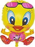 Tweety Bird Party Decoration Balloons Looney Tunes Celebration Yellow (5 Pack), Bright Color Plastic 22 inch Helium/Air/Birthday/Carnival/Festival/Graduation/Decoration/Nursery/Daycare
