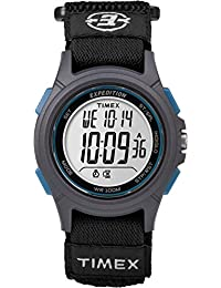 Timex Men's TW4B10100GP Sport Expedition Digital with Black Nylon Hook and Loop Strap